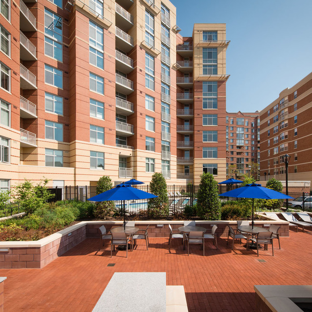 Deck at The Bradley Braddock Road Station Apartments