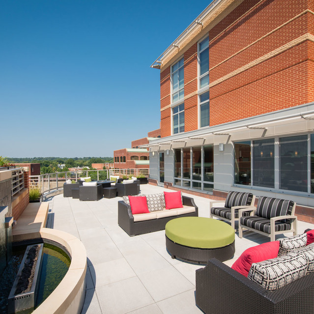 Rooftop lounge at The Bradley Braddock Road Station Apartments
